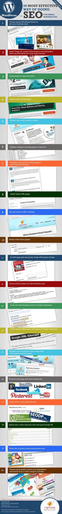20 manieren om effectief SEO toe te passen (infographic