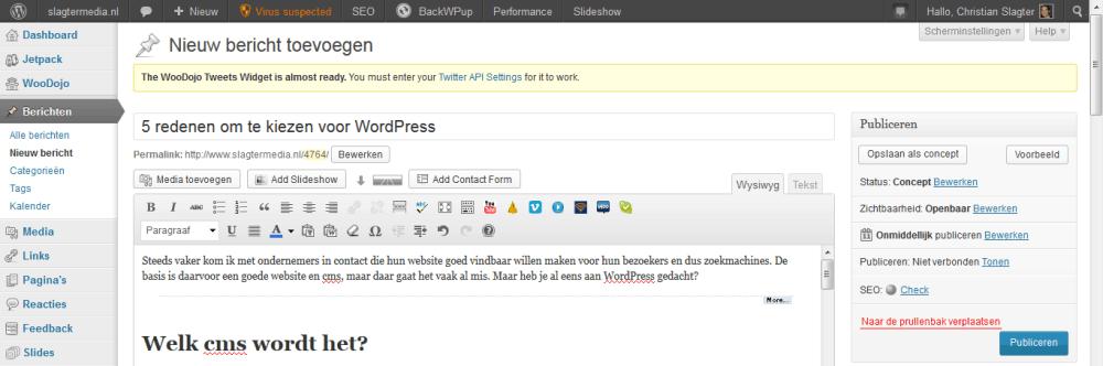 Hoe voeg je een nieuw bericht toe in WordPress